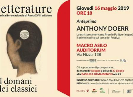 Lo scrittore Anthony Doerr a Roma in occasione del Festival Letterature