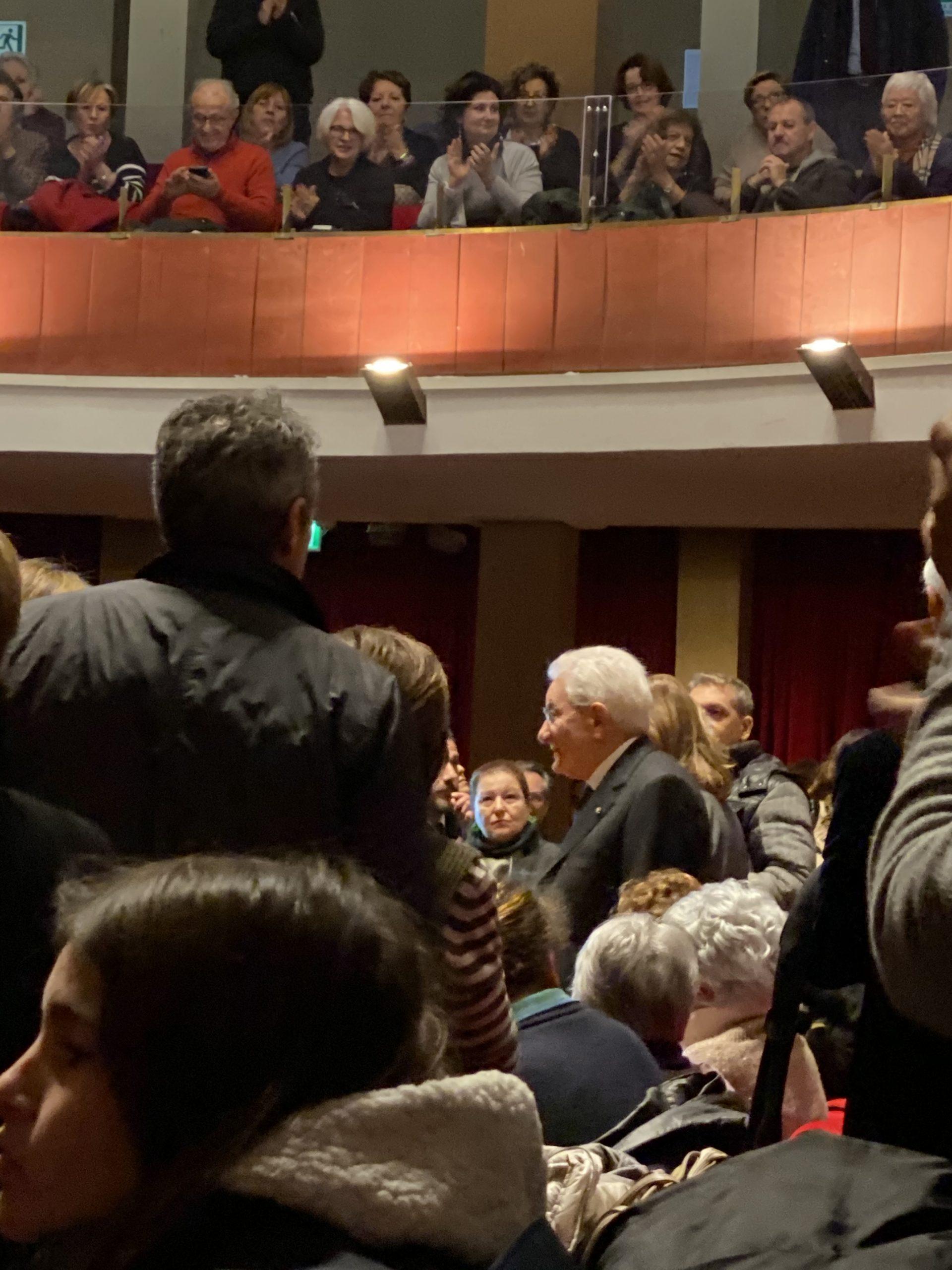 Il Presidente della Repubblica Sergio Mattarella alla prima di Arsenico e Vecchi Merletti in Roma photo Copyright by #carlomarinoeuropeannewsagency